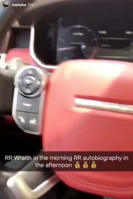 """Rolls Royce Wraith in the morning, Range Rover Autobiography in the afternoon"" - Flamboyant businessman Mompha, brags on Instagram"