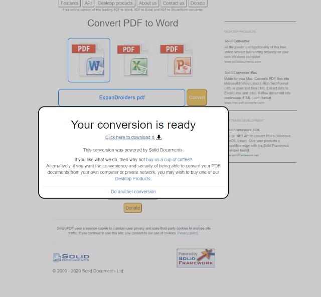 cara tukar pdf ke word