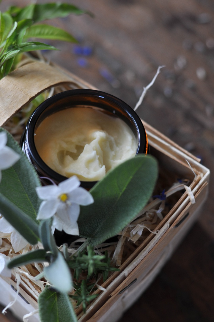 rich and nourishing Gardener's Hand Cream, easy to make and oh-so good!