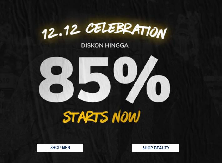 Zilingo - Promo Diskon s.d 85% di 12.12 Celebration