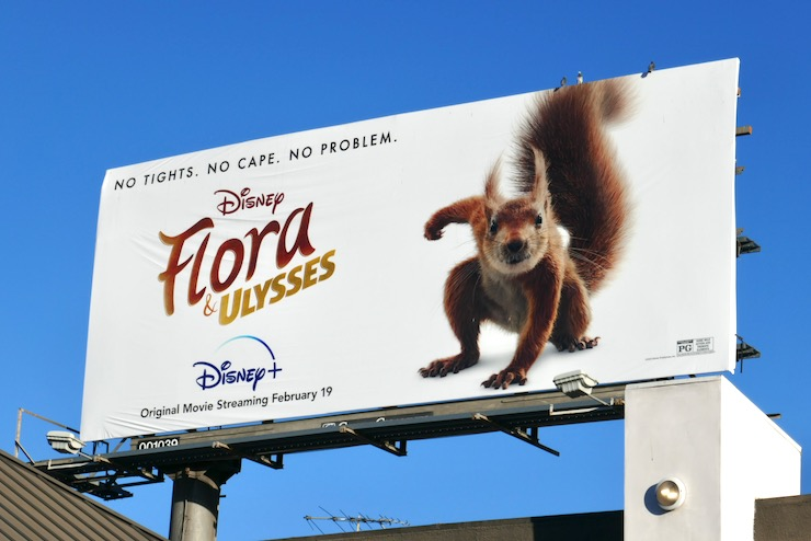 Disney Flora and Ulysses movie billboard