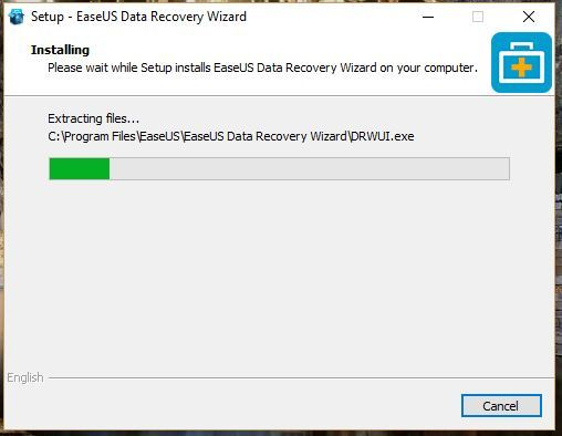 Cara install EaseUS data recovery wizard pada Windows 9