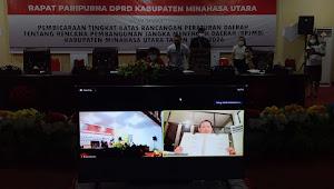 5 Fraksi DPRD Minut Bulat Setujui Penetapan RPJMD 2021-2026 Di Rapat Paripurna