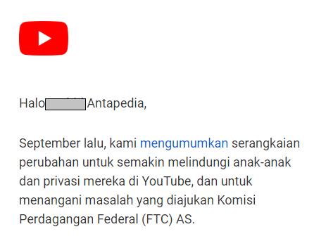 Resmi! Youtube Anak-anak tidak bisa menayangkan iklan