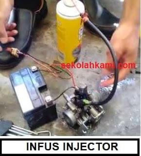 cara membersihkan injektor