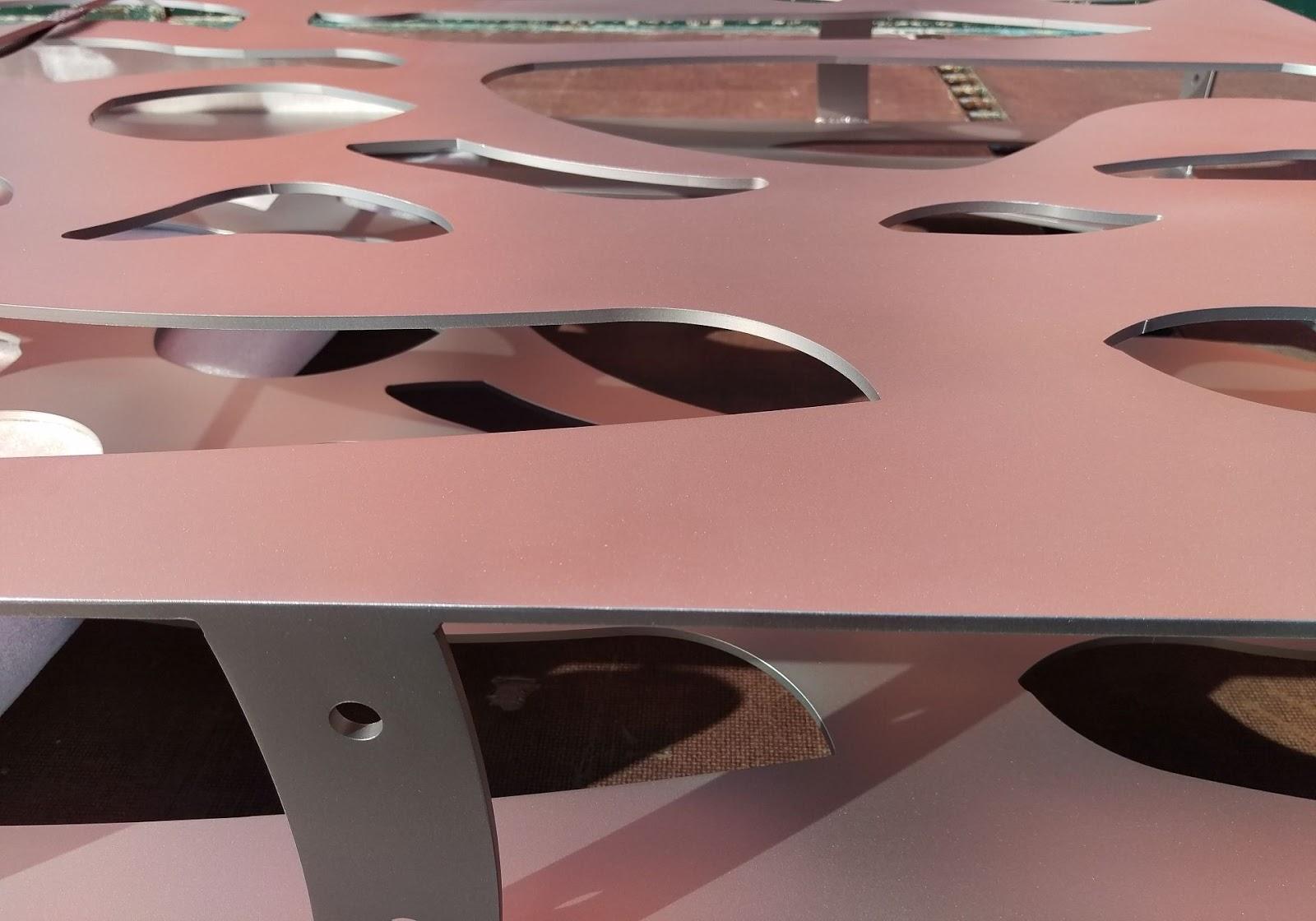 Sichtschutz Muster Gelasert Edelstahl Frobel Metallbau