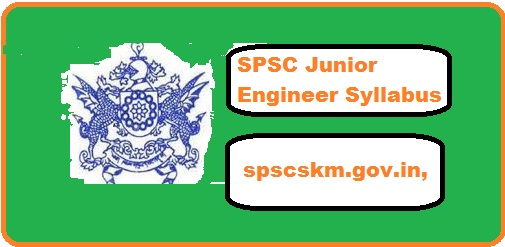 SPSC Junior Engineer Syllabus 2018
