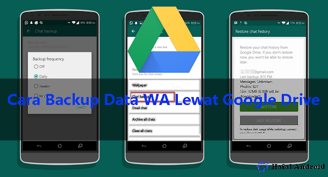Backup Data WA Dengna Google Drive