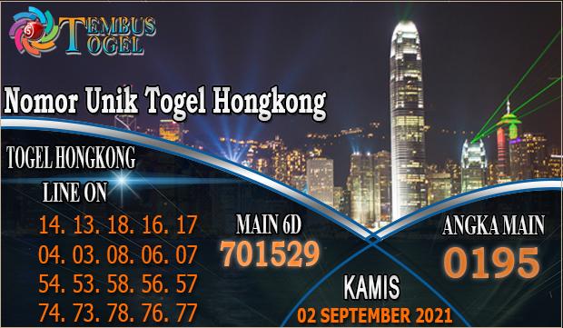 Nomor Unik Togel Hongkong, Kamis 02 September 2021 Tembus Togel
