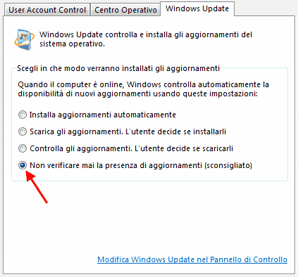 GT - Sicurezza/Windows Update