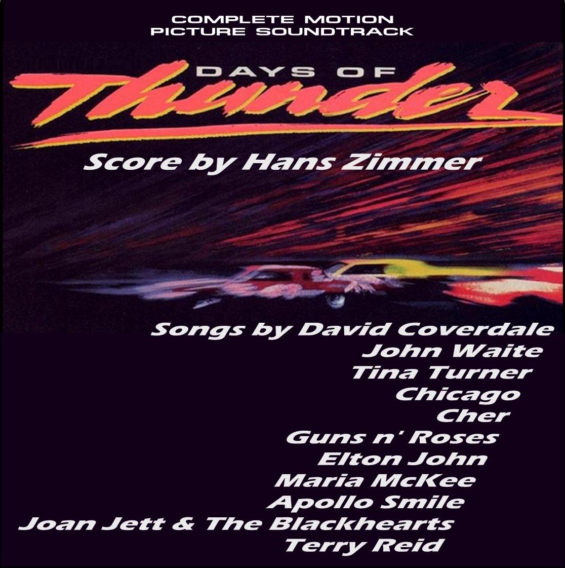 DAYS OF THUNDER - Complete Soundtrack [JRCD 080228-1] | MIS