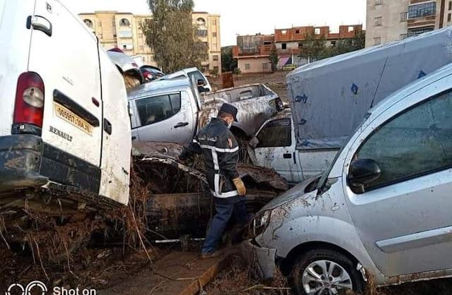 بالفيديو فيضانات غزيرة جنوب الجزائر تخلف خسائر بشرية ومادية كبيرة