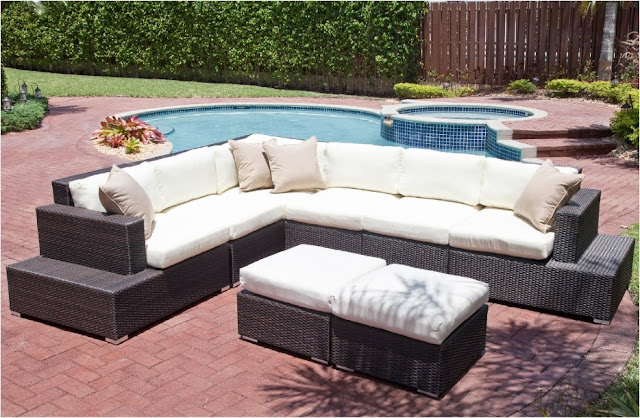 Source Outdoor Manhattan All-Weather Wicker Deluxe Sectional