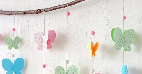 eu amo artesanato borboletinha de papel