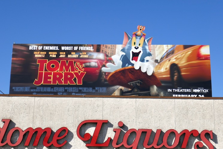 Tom & Jerry extension cut-out billboard
