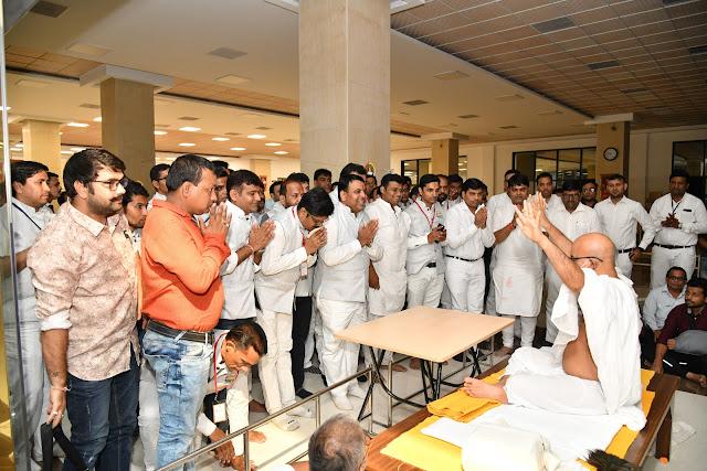 Team ABTYP JTN in the Pious Presence of His Holiness Acharya Shri Mahashraman ji Feeling Blessed