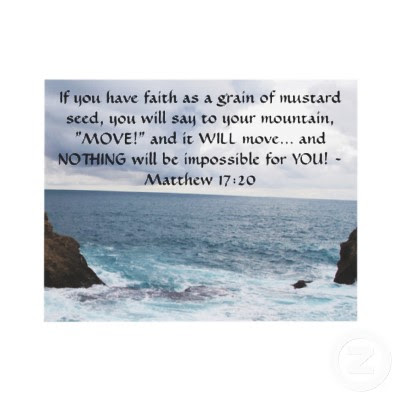inspirational quotes if you have faith as a grain of mustard seed,