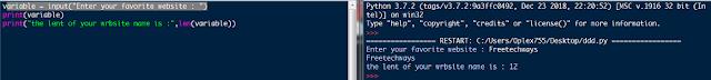 python basic , len(),len,print