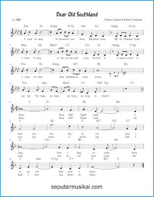 Dear Old Southland chords jazz standar