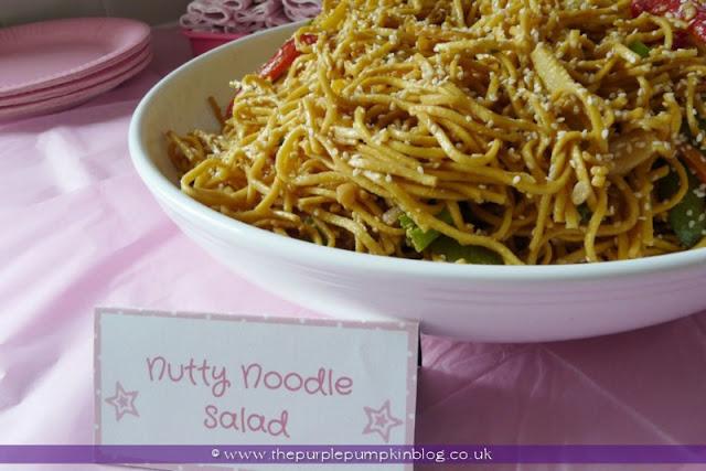 Nutty Noodle Salad at The Purple Pumpkin Blog