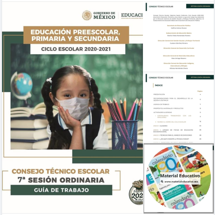 Consejo Técnico Escolar. Séptima Sesión Ordinaria. Ciclo Escolar 2020-2021. Educación Preescolar, Primaria y Secundaria.