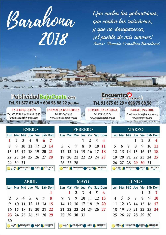 barahona noticias calendario 2018