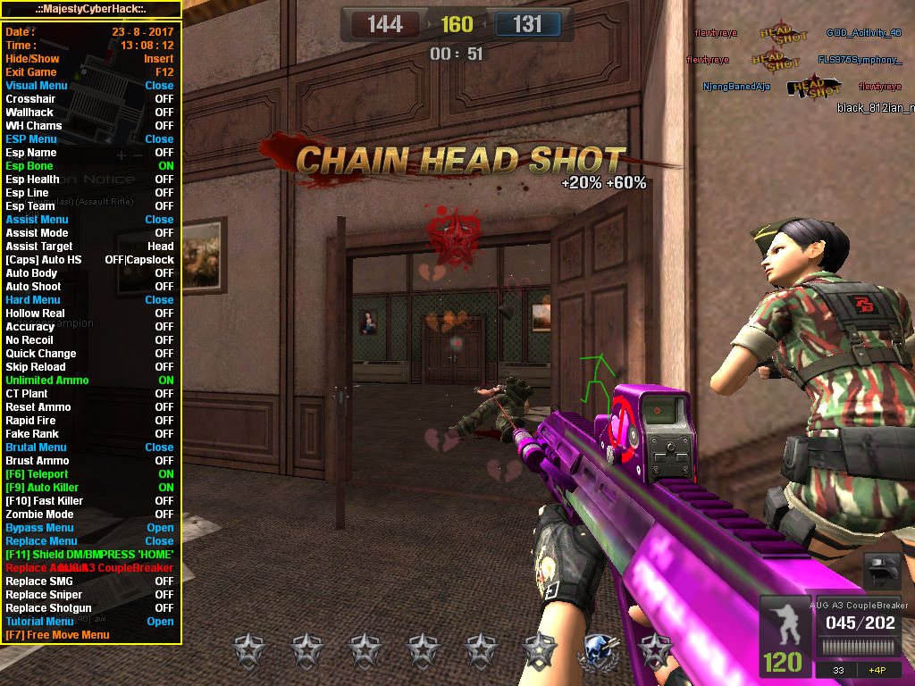 New Update Cheat Point Blank Garena Indonesia 26 Agustus 2017 Auto