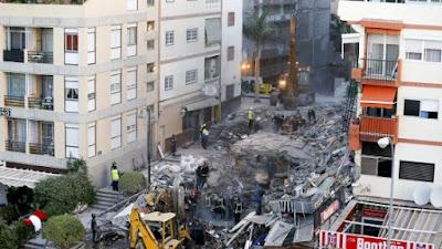 2 Pensionati italiani tra le vittime a Tenerife (Spagna) della palazzina crollata