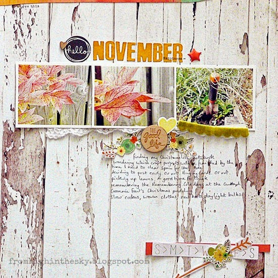 Sian Fair scrapbooking November