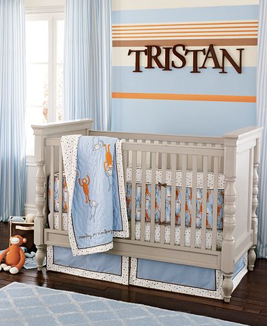 custom nursery art by kimberly cool color combo orange and blueish grey. Black Bedroom Furniture Sets. Home Design Ideas