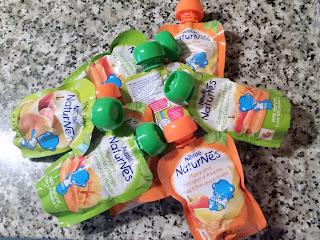 En lucha con la fruta y Nestlé Naturnes