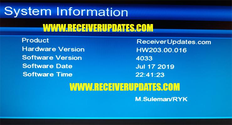New Software Receiver Updates 2019
