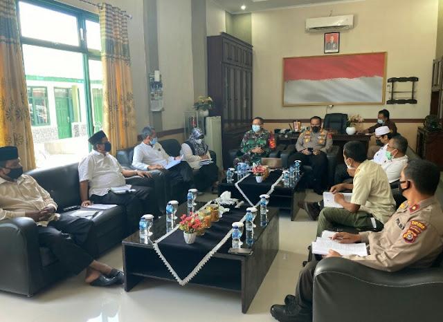 Dandim 0105/Aceh Barat Dan Kapolres Pimpin Rapat Koordinasi Satuan Tugas Covid - 19