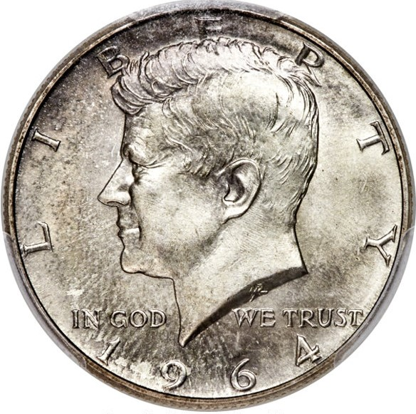 1980-1989  Kennedy Half Dollar Proof Run Set 10 US Coins
