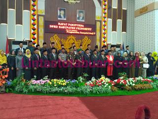 Polres Tanggamus Hadiri Pengambilan Sumpah Ketua dan Wakil Ketua DPRD Pringsewu