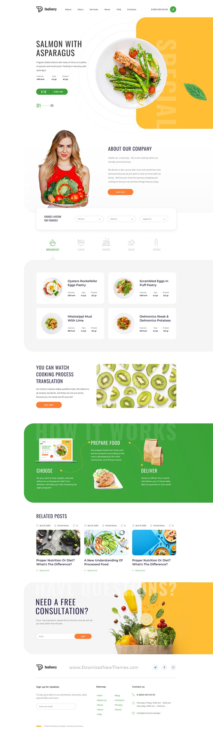 Best Health Food Template for Sketch