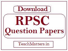 image: RPSC School Lecturer Question Papers @ TeachMatters