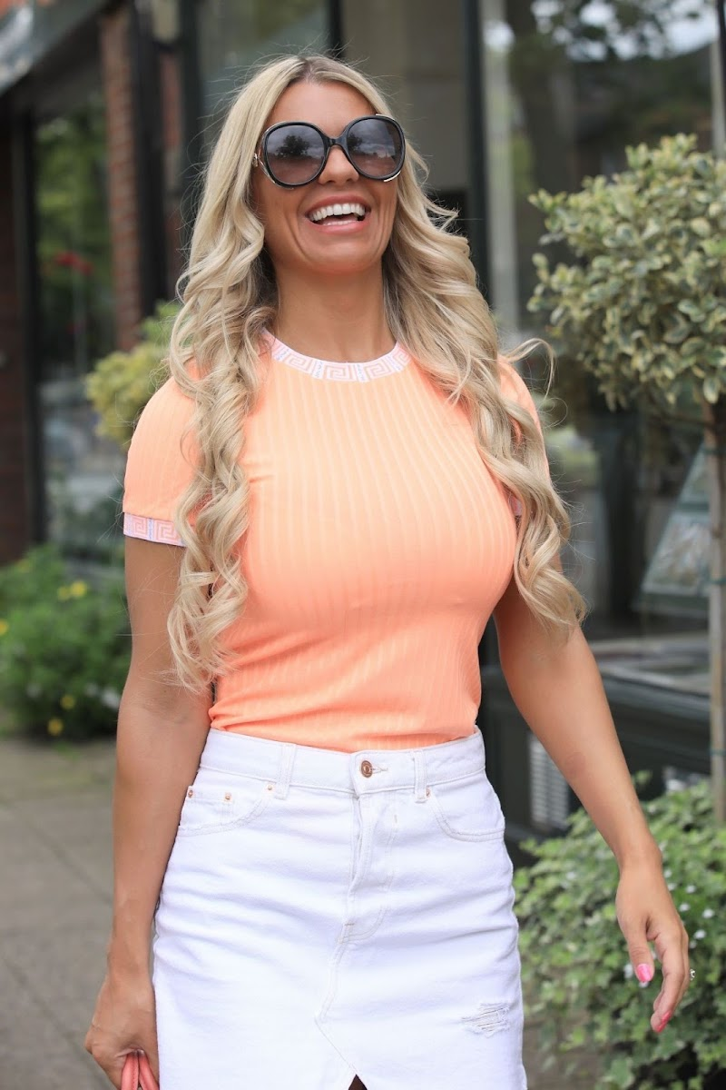 Christine McGuinness Clicked Outside in Alderley Edge in Cheshire 9 Aug-2019