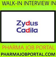 Zydus Biologics Walk In Interview For Freshers, B.Pharm, D.Pharm at 26 & 29 November
