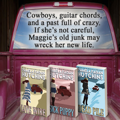 """Book Quote: """"Cowboys, guitar chords, and a past full of crazy. If she's not careful, Maggie's old junk may wreck her new life."""""""
