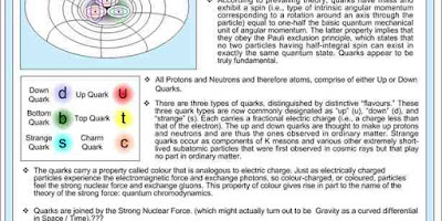 Quarks And Gluons: Color Charge, Strong Nuclear Force, Binding Force, Electric Flux And Gluon Flux
