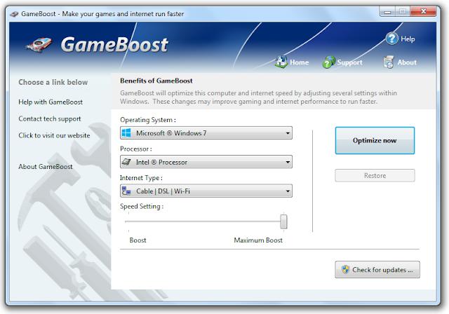Screenshot PGWARE GameBoost 3.8.12.2019 Full Version
