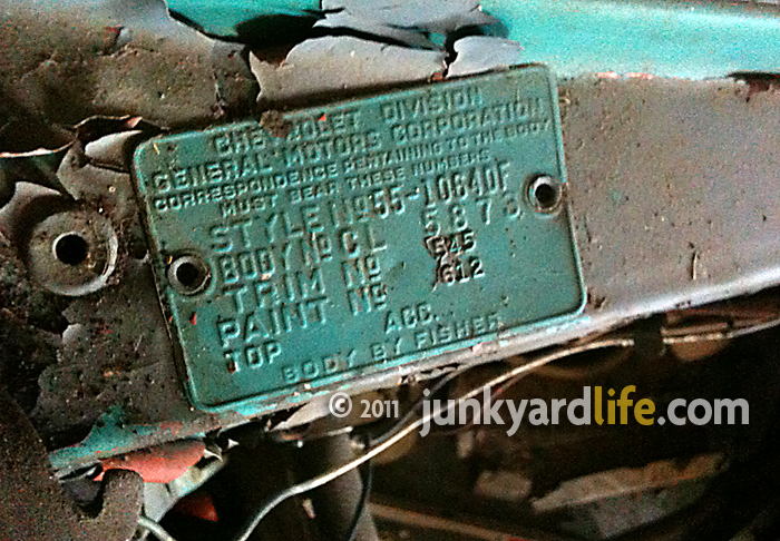 1955 Chevy Truck Vin Number Location 56 Vin tag letter stamping