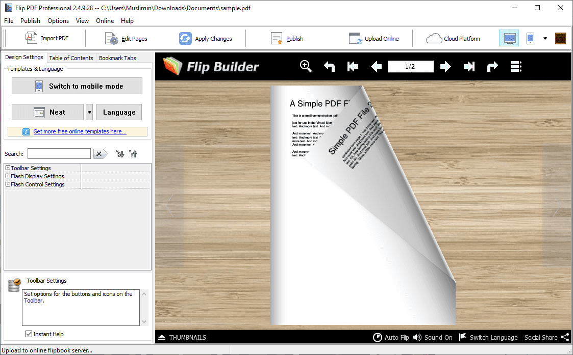 Flip PDF Professional v2.4.9.28 Full version
