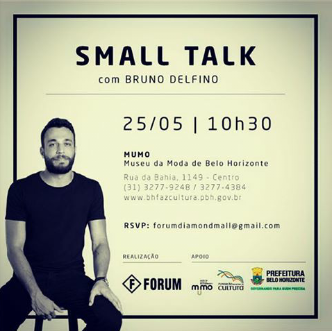 Convite Small Talk com Bruno Delfino em BH