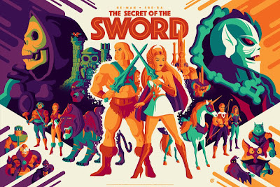 "Masters of the Universe ""He-Man and She-Ra: The Secret Of The Sword"" Regular Edition Screen Print by Tom Whalen x Mad Duck Posters"