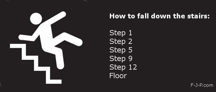 Funny How To Fall Down The Stairs Joke Picture