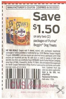 Purina Beggin Dog coupon