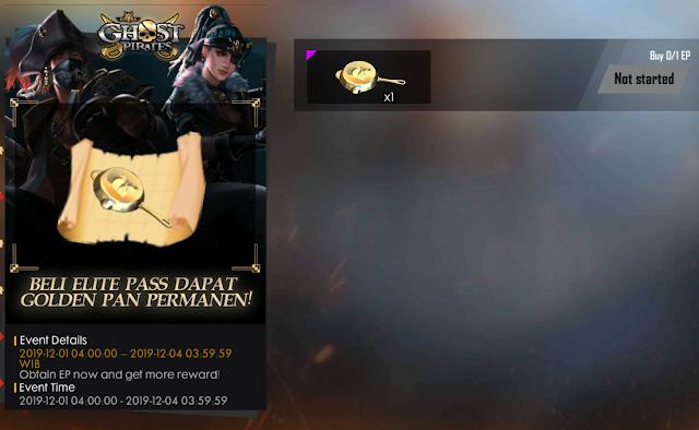 Event Bonus Ghost Pirate Beli Ep dapat Skin Golden Pan Free Fire
