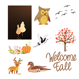 How to create paper cut / welcome Fall designs in Canva ?